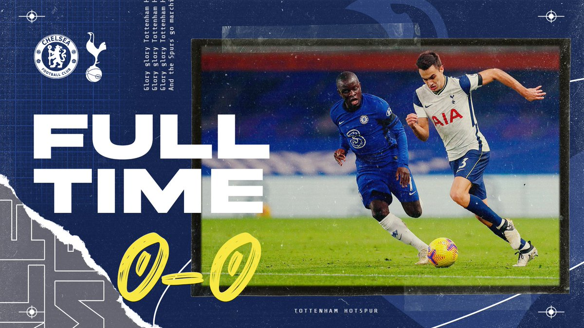 RT @SpursOfficial: FULL-TIME: It finishes all square at Stamford Bridge.  🔵 #CFC 0-0 #THFC ⚪ https://t.co/kVW6lbWBlL