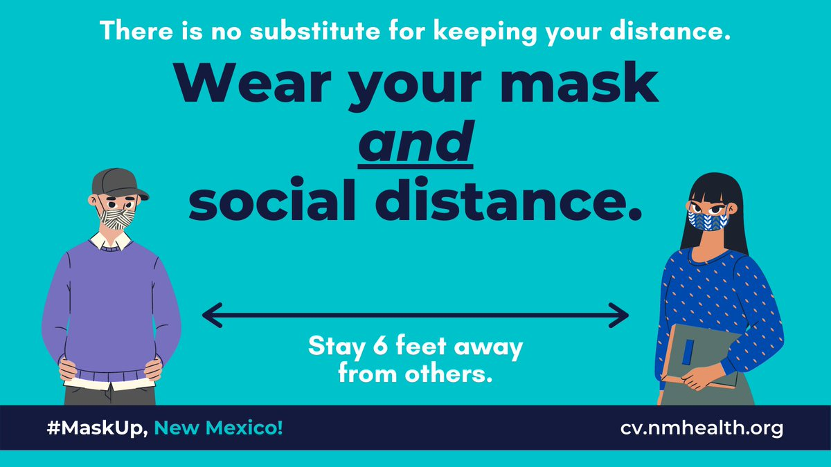 New Mexico's COVID-19 cases and test positivity rates remain high – it's critical that we keep up the fight against the virus.  Continue staying home unless you have to go out for work or essentials – if you must go out, wear your mask. Keep avoiding gatherings with other people.