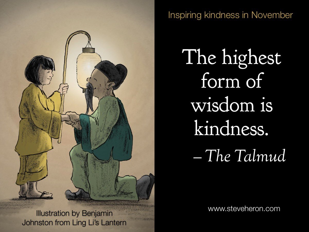 """""""The Highest form of wisdom is kindness."""" - the Talmud Inspiring kindness in November. 30 days = 30 quotes. Day 30. #worldkindnessday #linglislantern #kindness #kindnessquotes #inspirekindness @worldkindnessau  #Kindnessmatters"""