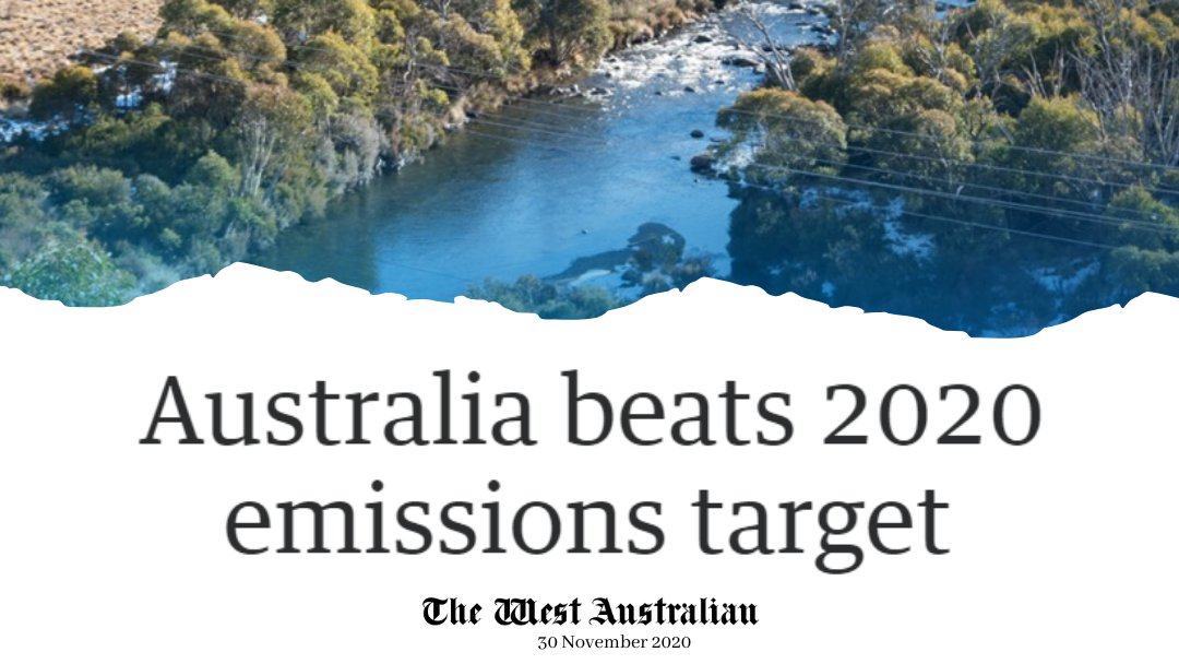 New data confirms Australia has beaten our 2020 emissions target by 459 million tonnes. Australia's emissions are now 16.6% below the level of emissions in 2005 - the baseline year for the Paris Agreement. #auspol minister.industry.gov.au/ministers/tayl…