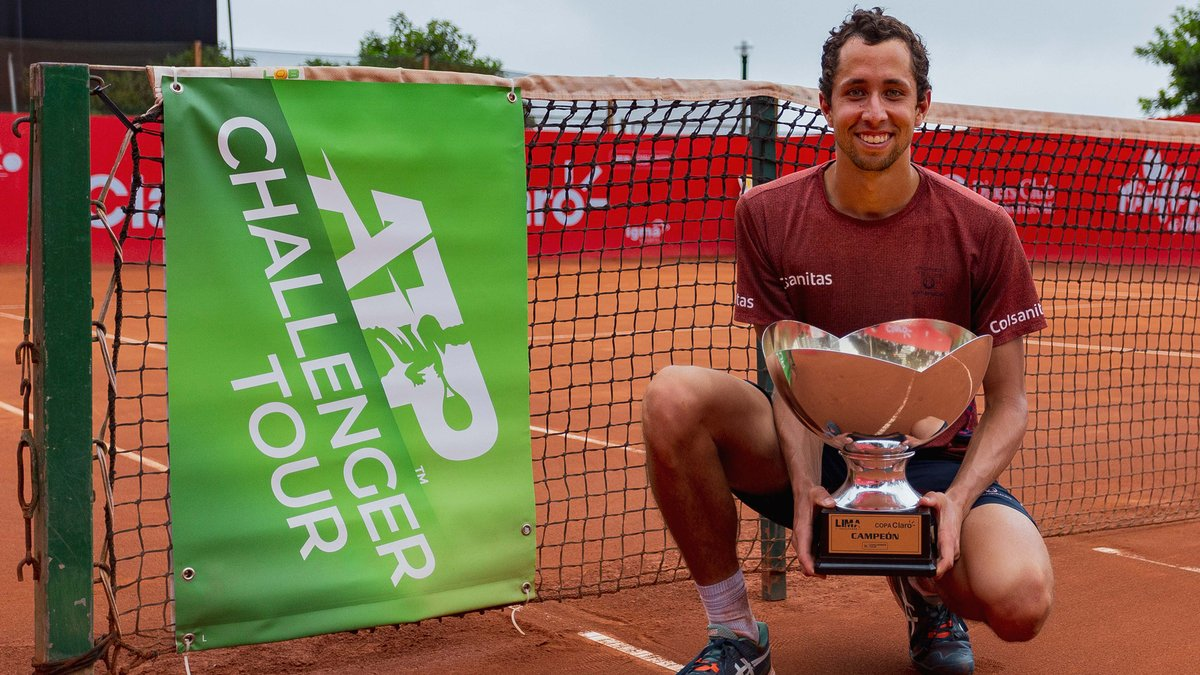 Your champion in Lima.... Daniel Galan!  The 🇨🇴 lifts his second #ATPChallenger 🏆 and first of 2020.   🔜 A career-high No. 117 in the FedEx ATP Rankings https://t.co/hVzFGv5pRq