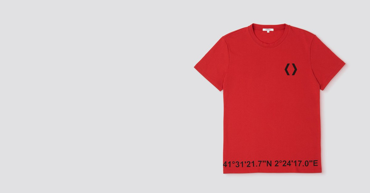 Mikakus™ Coordinates Tee, a statement piece detailed with our logo print on the chest and our headquarters coordinates at the bottom area. Handcrafted from 100% pure organic cotton for unparalleled comfort #MIKAKUS #readytowear #sneakers #sneakersaddict #sneakerstore