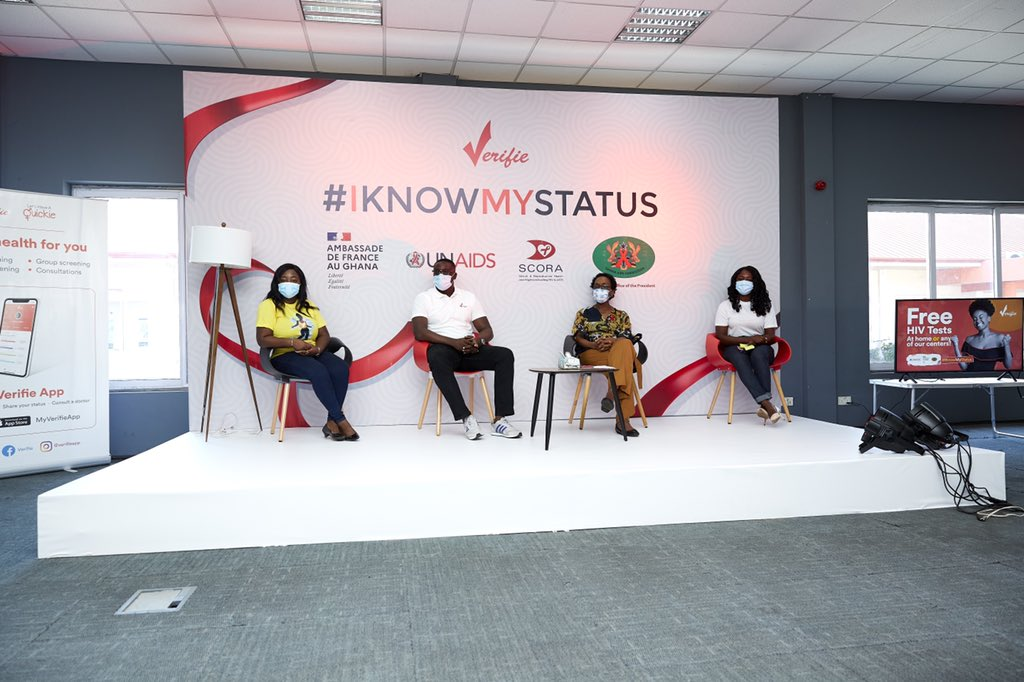 Yesterday we were happy to launch our #iknowmystatus project where @verifieapp along with partners @unaidsghana and @franceandghana are offering free HIV testing to young people between 18 and 40!
