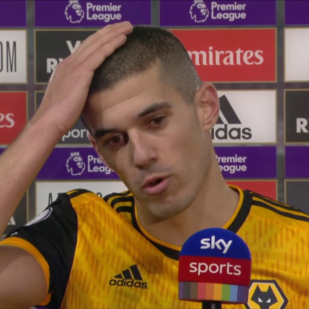 """""""We just hope and pray that everything's okay - he's the one we're thinking about."""" 🙏  Conor Coady discusses the clash of heads between Raul Jimenez and David Luiz early on in today's match.  #ARSWOL"""