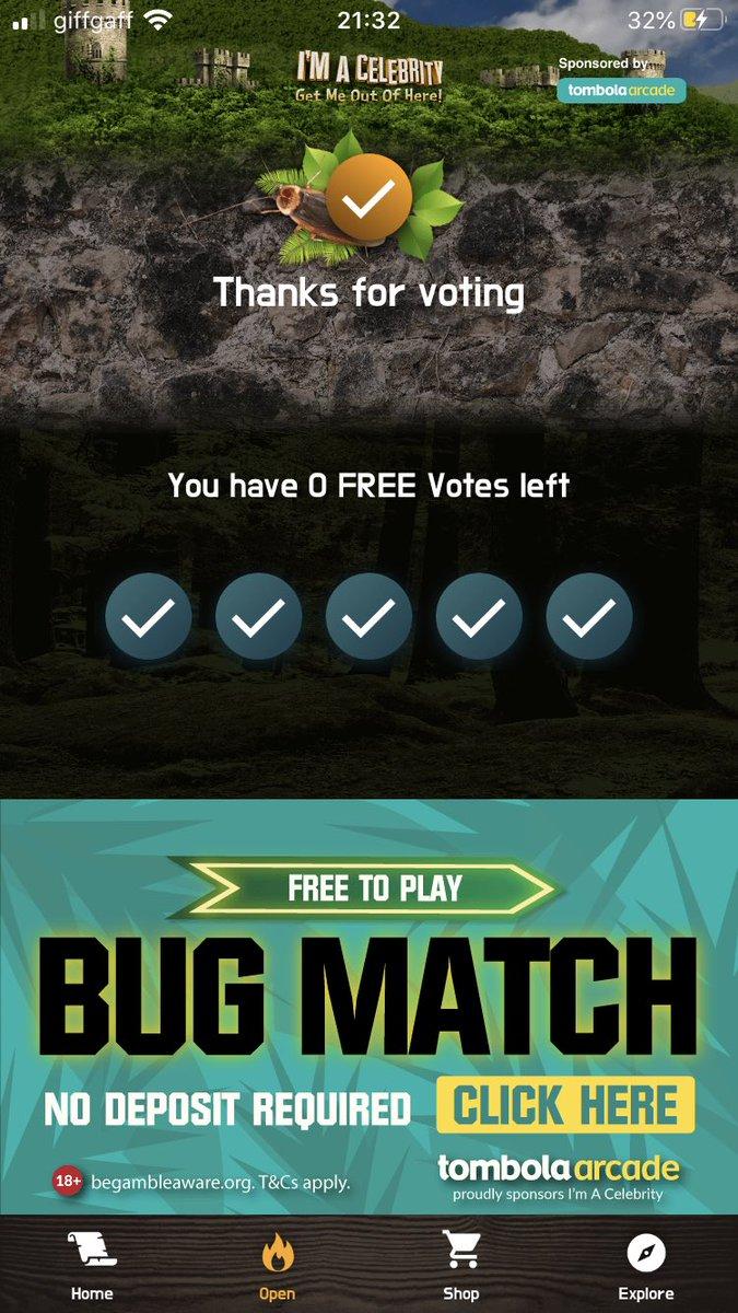 No votes left!! @jordannorth1 has all 5!!! #happyplace