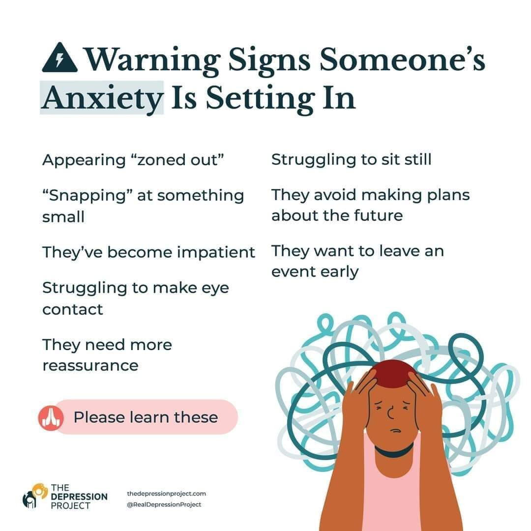 Replying to @TinasTacosB: Warning signs someone's anxiety is setting in 💗
