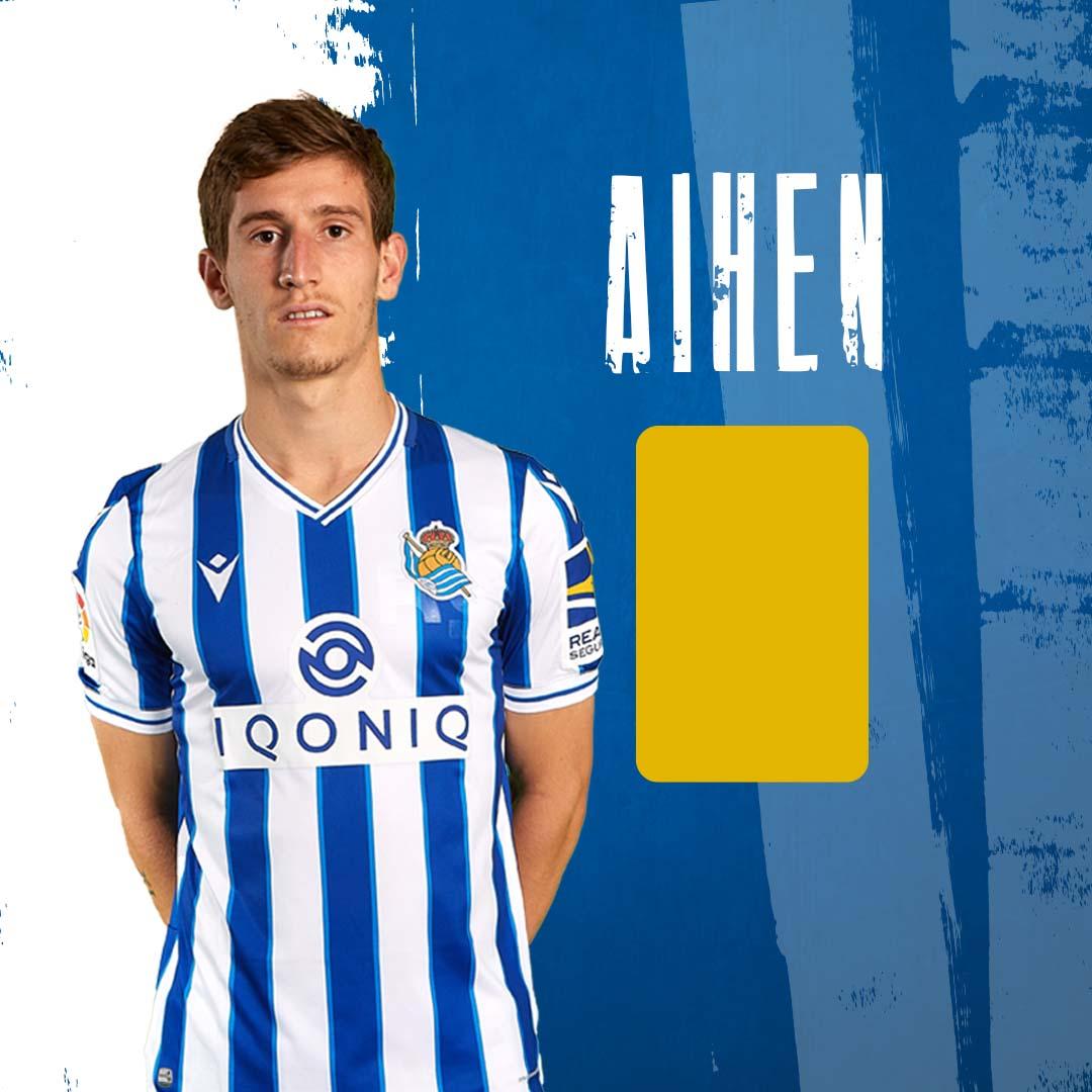 🟨75' | 1-1 | Tarjeta amarilla para @Aihen11.  #RealSociedadVillarreal #AurreraReala
