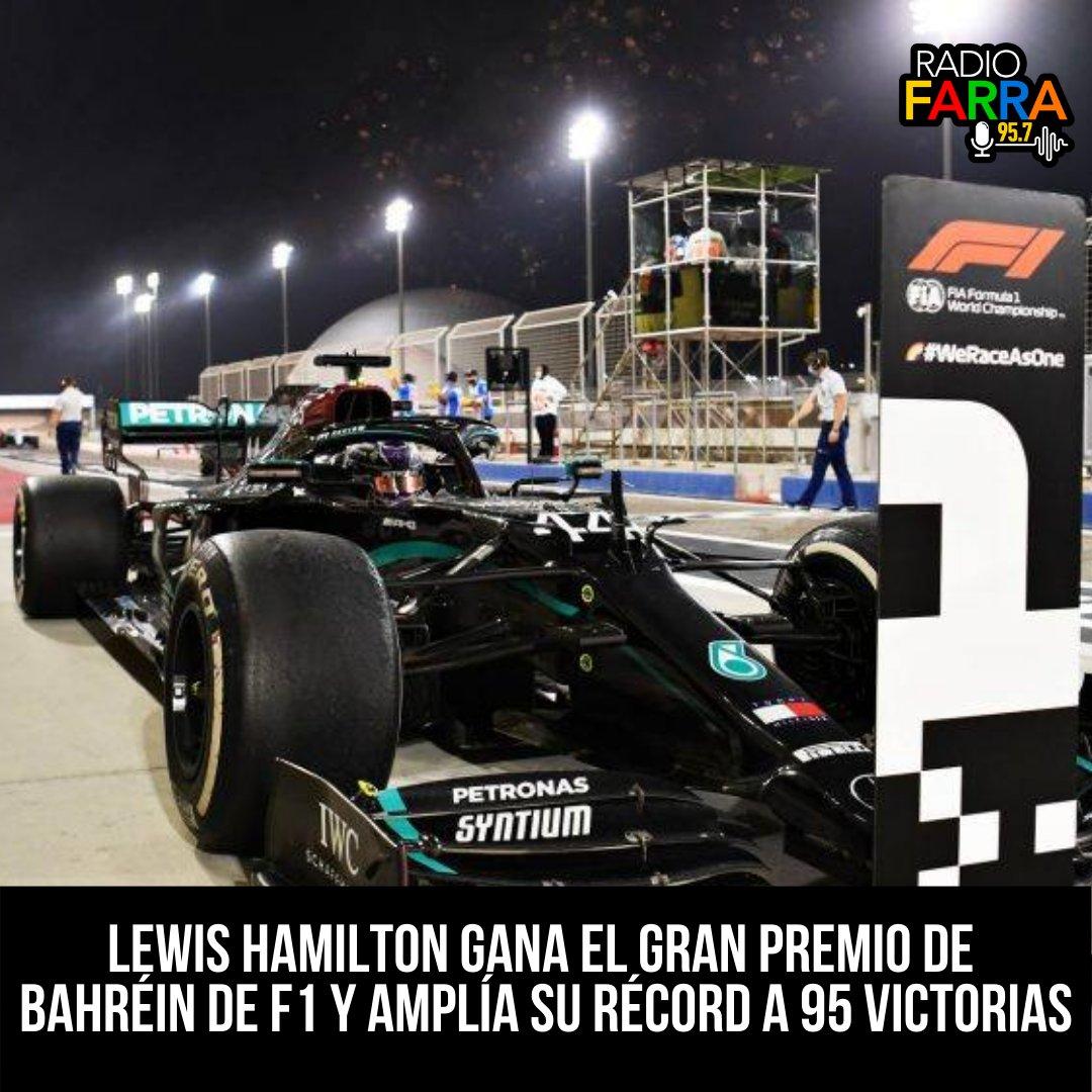 #F1 El inglés Lewis #Hamilton (Mercedes), que había igualado matemáticamente el récord histórico de siete Mundiales de #FórmulaUno del alemán Michael #Schumacher, ganó este domingo el Gran Premio de #Bahréin, en el circuito de Sakhir. https://t.co/bCzyQYcmiL