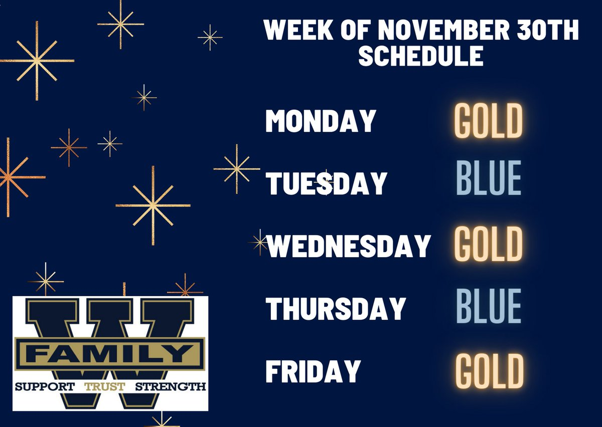 There's always something to be thankful for! Hope you all had a wonderful Thanksgiving and are ready for an awesome week on campus. See you Monday Wolverines!  Starting the week on GOLD! #ProtectTheDen #MaskUP #IamWestForsythWeareFamily