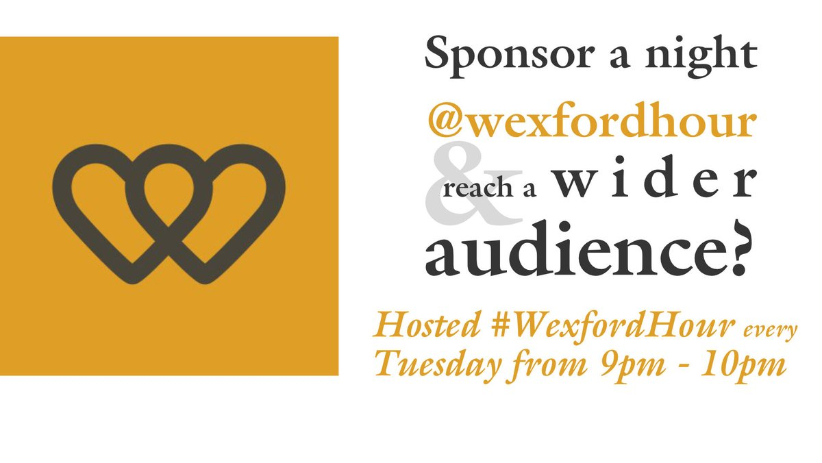 #WexfordHour Participants & followers have made new business contacts & friends here on Tuesdays night! Every Tuesday night 9pm-10pm on twitter. Use the hash tag & join in for the craic and chat! #StaySafe Take  #Nounnecessaryjourneys