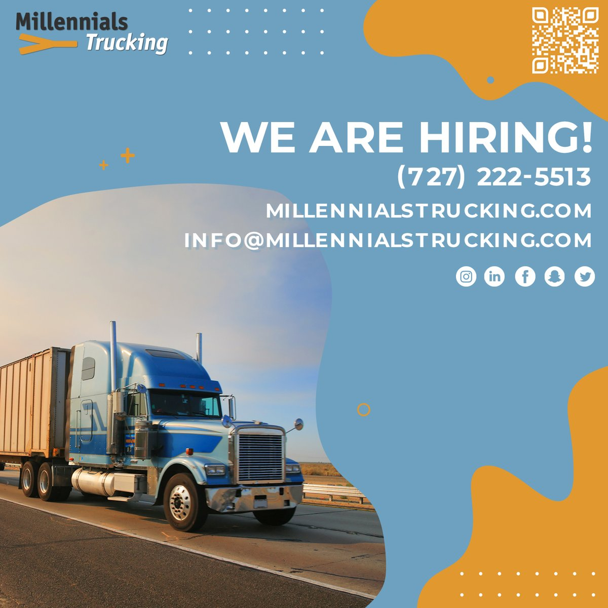 Everything you wanted in one place! Check out our website and apply now!  #staysafe #thankyou #millennialstrucking #trucking #trucks #truckerslife #truckers #wearehiring #findjob #country #jobs #work #usatrucks #truckdrivers #trucker #usaroads #hiring