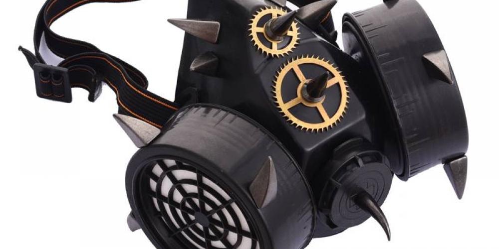 #steampunk Black Devil Rivets Cyberpunk Gas Mask Respirator https://t.co/BeGZnxFd0o 72.00