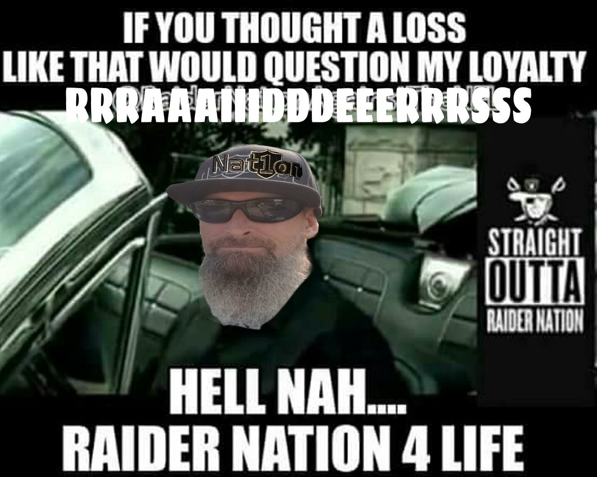 We'll regroup & come back... but fuck this was embarrassing . Worse game of the season Still screaming  RRRAAAIIIDDDEEERRRSSS  6-5 #R8RN4L #RaiderNation #1NATION