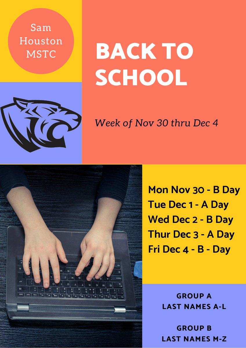 See you Tigers! #InPerson and #OnLine #BackToSchool tomorrow Mon Nov 30th. #MaskUp #ReturnStrong #BeSafe
