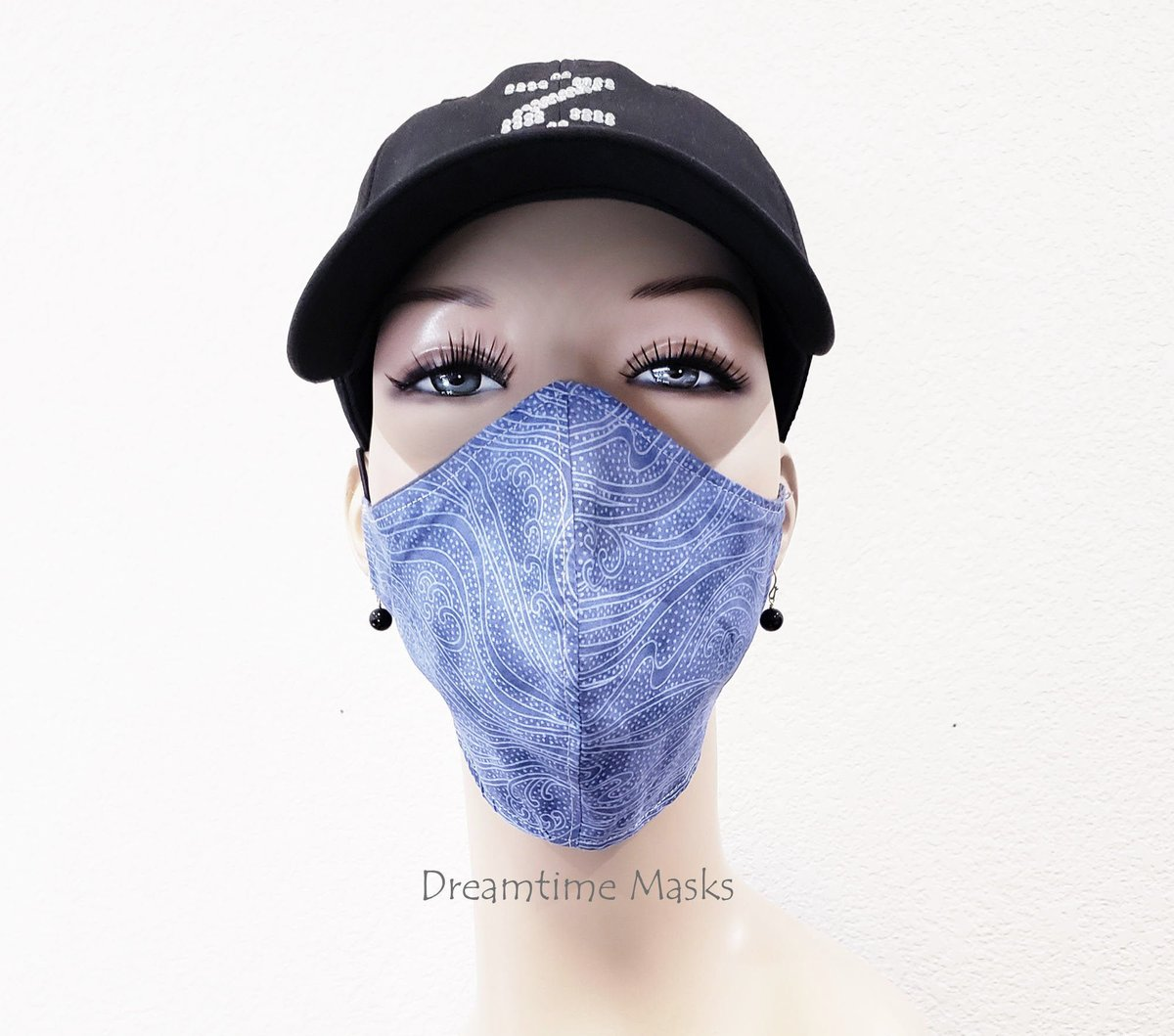 Blue Face Mask With Toggle Adjustable Over the Head Fashion Mask Blue Waves Face Covering  #staysafe #facemasks #wearthedammmask #facemask #Etsy #stayhome