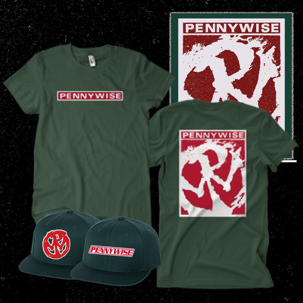 You've got until tomorrow (11/30) to save up to 50% on all Pennywise merch, including our Forest Green OG line. Get your tees, snapbacks, throw blankets, and more now at .