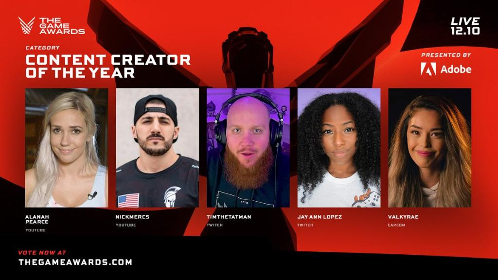 Congratulations to the nominees for Content Creator & Game of the Year 👏 🎉 Let us know who you think will be taking home the 🏆's at #TheGameAwards