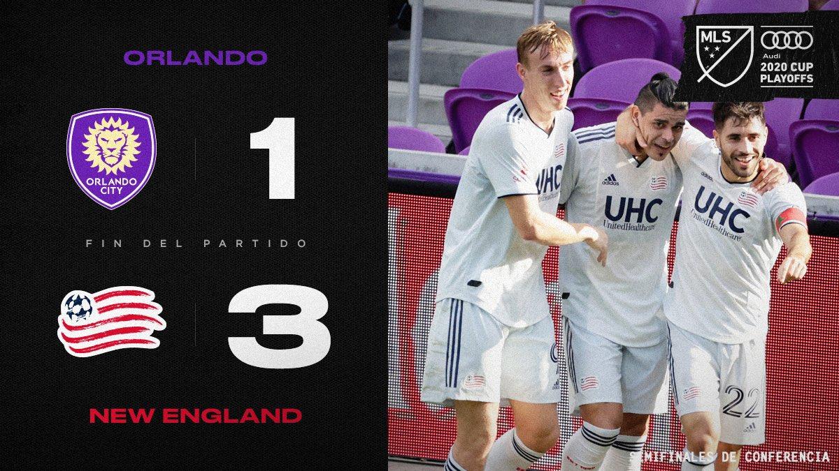 #MLSCupPlayoffs | Final:   Orlando City 1 - New England Revolution 3  ⚽🇺🇸 #FaceOfCity #NERevs #MLSmls