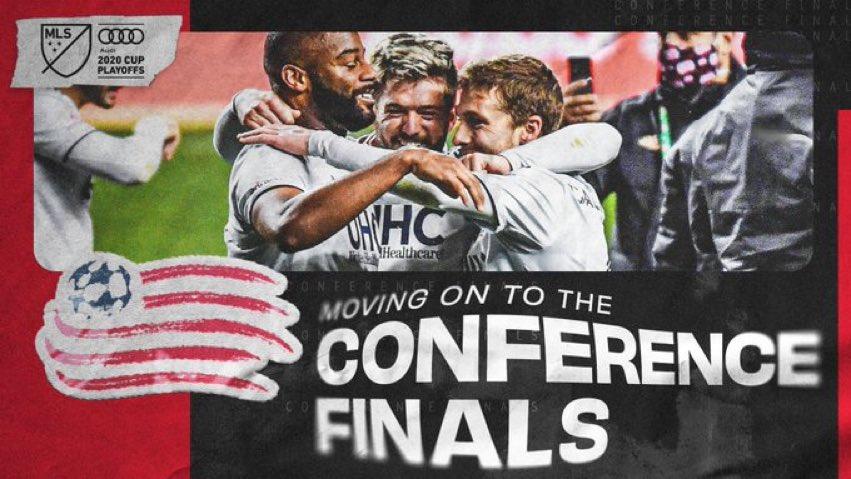 🎉 #NERevs est la 1ère équipe de l'édition 2020 à se qualifier pour la Finale de Conférence (Est) ! #MLSCupPlayoffs