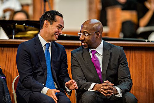 In 2016, @ReverendWarnock hosted community leaders and public servants at the Ebenezer Baptist Church for the 30th anniversary of MLK Jr. Day.  I was struck by his humility and dedication to serve others. He'll make an excellent Senator. Support his race: