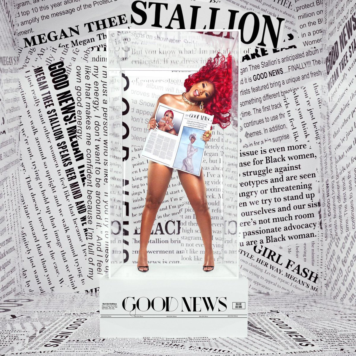 'Good News' by Megan @TheeStallion debuts at #2 on the Billboard 200.   It becomes her third Top 10 project.