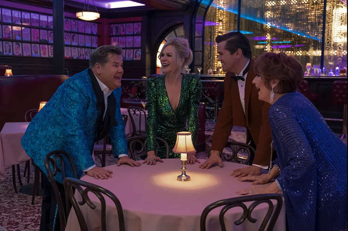Loved every minute of #TheProm's glitter, glamor and gravitational pull. It delivers an unbeatable high. Meaningful sentiments and memorable songs collide in a musical full of humor and heart. Meryl Streep is transcendent. Nicole Kidman is luminous. Ariana DeBose is A STAR.