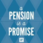 Image for the Tweet beginning: A pension is a promise