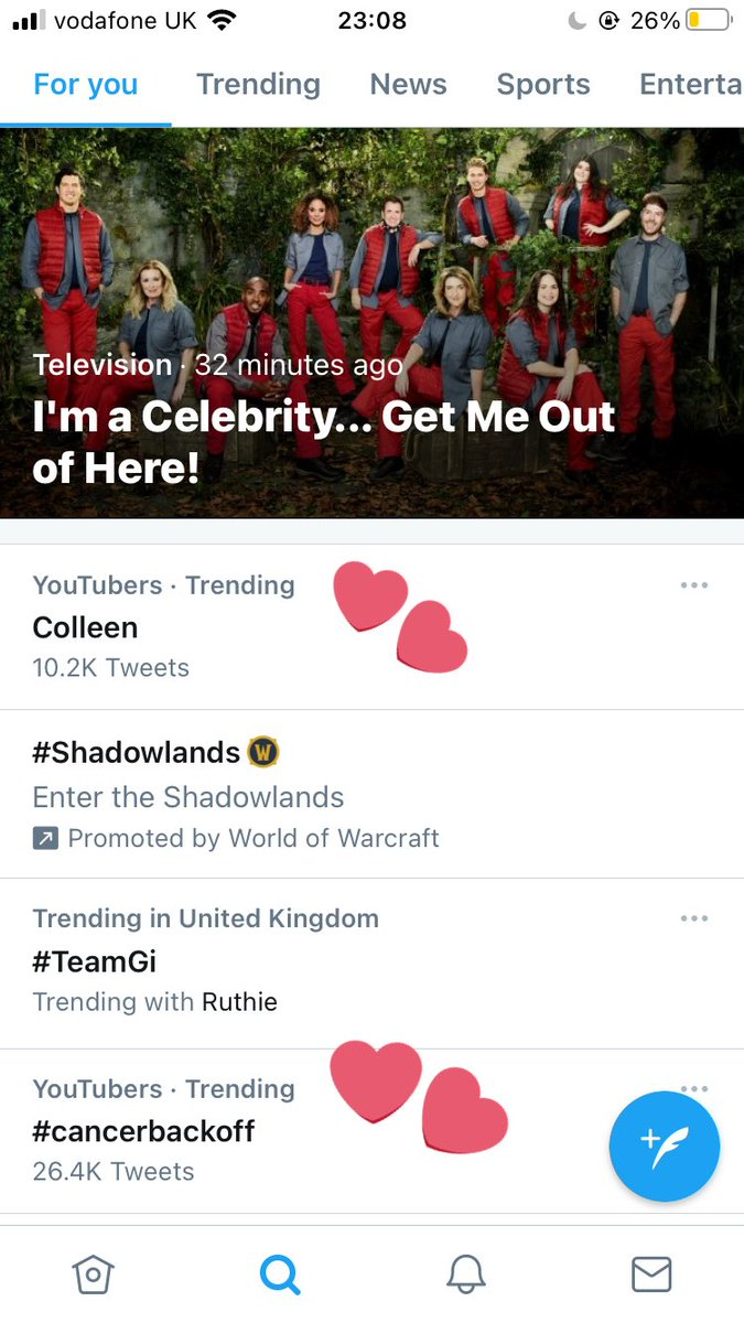 @ColleenB123 LOOK AT UUUUU NUMBER ONE CHANGING THE WORLD #cancerbackoff