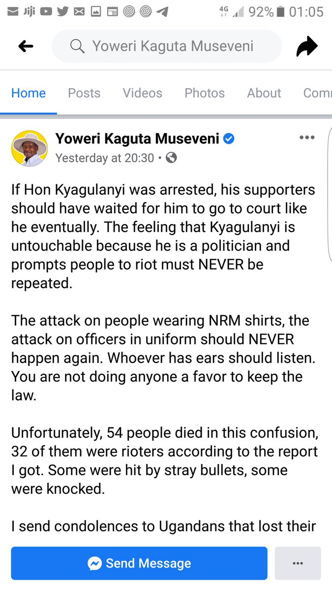 Hmm this nation , @KagutaMuseveni shame on you , Ugandan lives are now worth compensation than being protected,  @ug_lawsociety  record this confession to murder, it will be useful in the future. Shame shame on you @KagutaMuseveni  #WeAreRemovingADictator  #vote @HEBobiwine