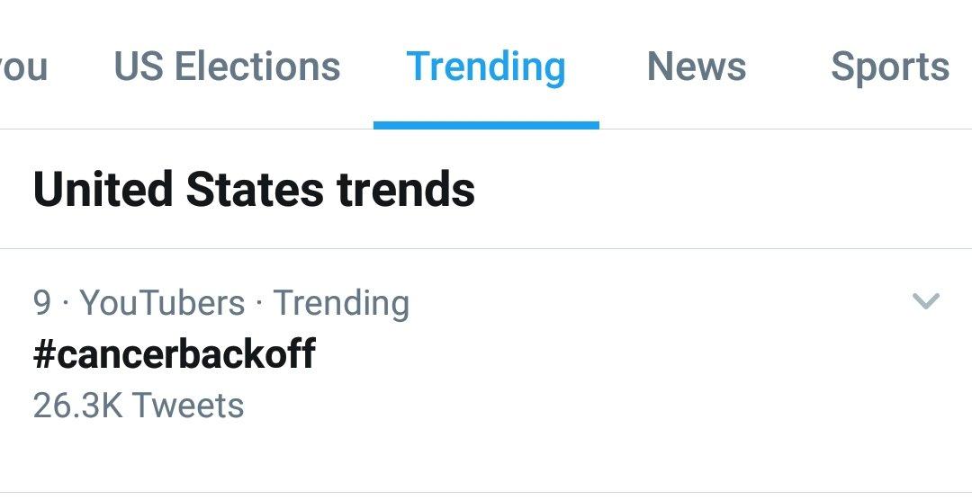 Look @ColleenB123 #cancerbackoff is trending!