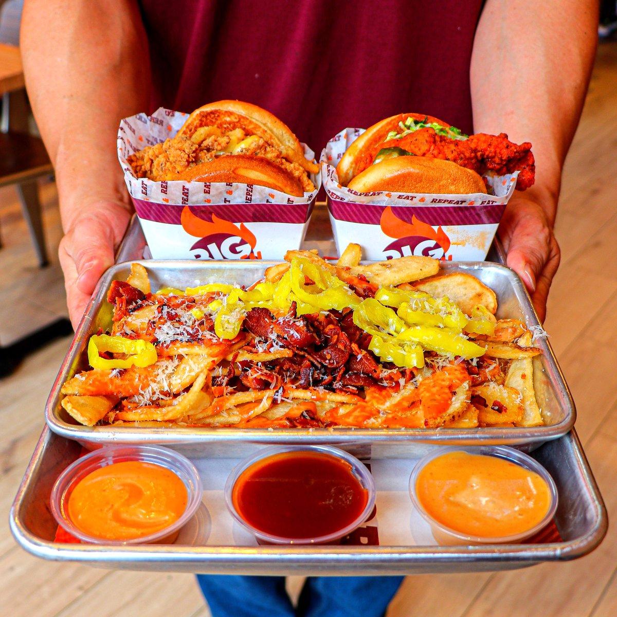 Servin' it fresh daily in Glendale, CA and Las Vegas, NV! 🔥🙌🏼🐔 #BigChickenShaq
