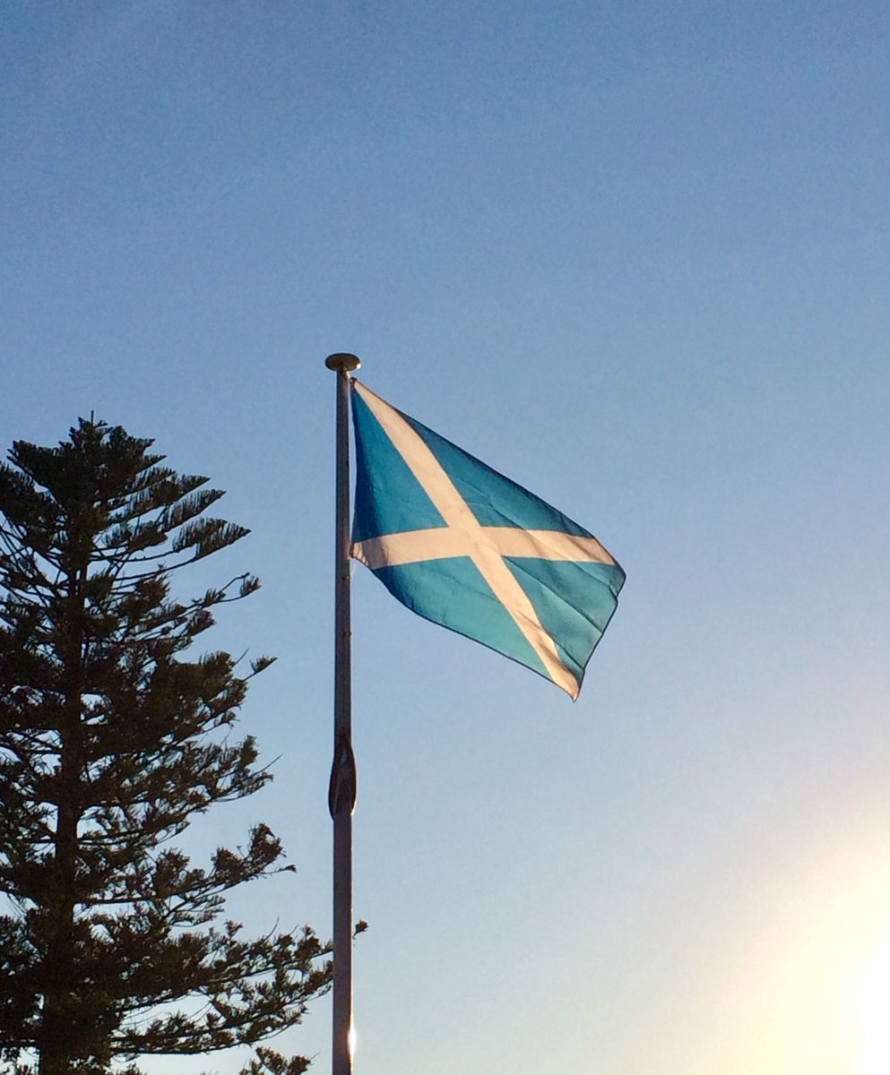 I'm flying the #flag of #Scotland 🏴 for #StAndrewsDay. The white saltire on blue has been used as the flag of Scotland since the 16th century and as part of the #UnionFlag 🇬🇧 since 1606. Happy St Andrew's Day! Flag from @mrflag 🏴. #vexillology https://t.co/ab8YOn0jX1