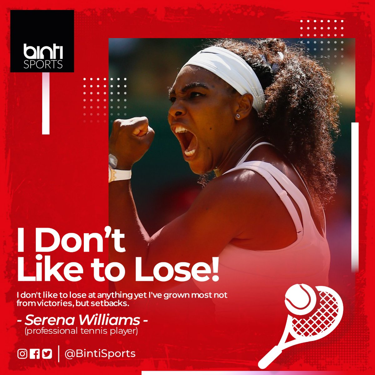 Rise above it all.Have a lovely week @serenawilliam #MondayMotivation #mondaythoughts #BeingSerena