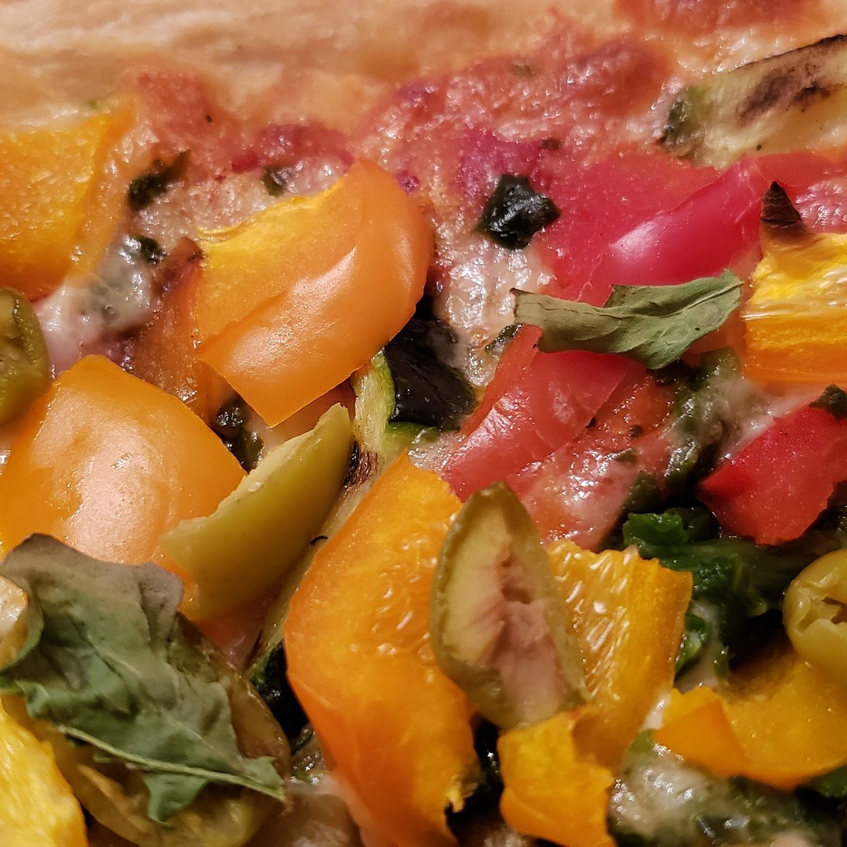 Living Fresh Foods enjoying Organic Pizza with fresh Peppers, Olives and the Indoor Grown Arugula.  https://t.co/KAoyA2kezp  #growyourownfoods #growmyownfood #growlights #growlight #growityourself #organicfoods #pizza #pizzalover #pizzatime #dinnerideas #dinnerathome https://t.co/SaEA7ZFFbB