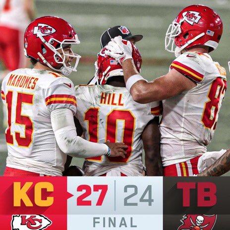 #NFLFirdtDown FINAL: The @Chiefs improve to 10-1! #ChiefsKingdom #KCvsTB