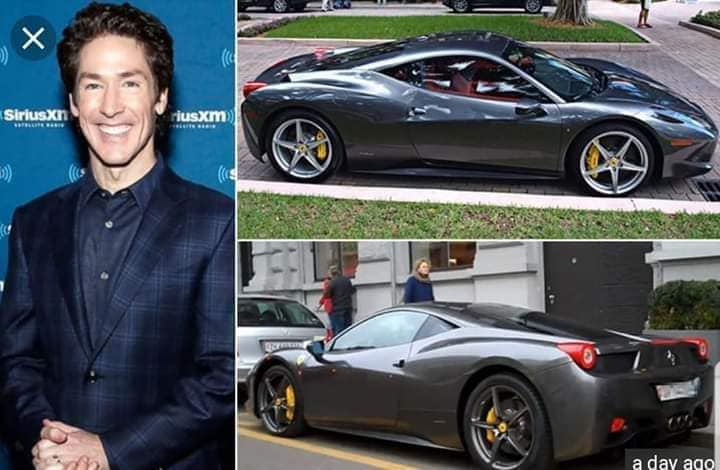 What would Jesus drive? A $350K Ferrari 458 Italia. With that bad run in with Romans, a very odd choice to go Italian. #joeloasteen #fakereligion #TaxTheChurch #whatwouldjesusdo #WWJD #JoelOsteenPodcast #LakewoodChurch #lakewoodrubes #evil
