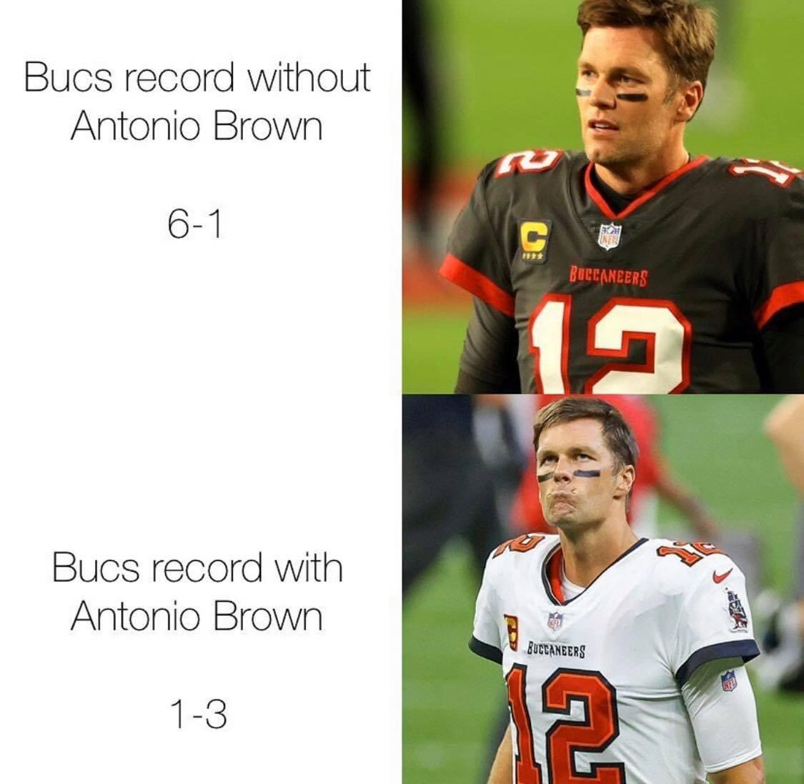 They just can't win consistently with AB #Buccaneers lololol #NFL https://t.co/A7Y0X9xwFc