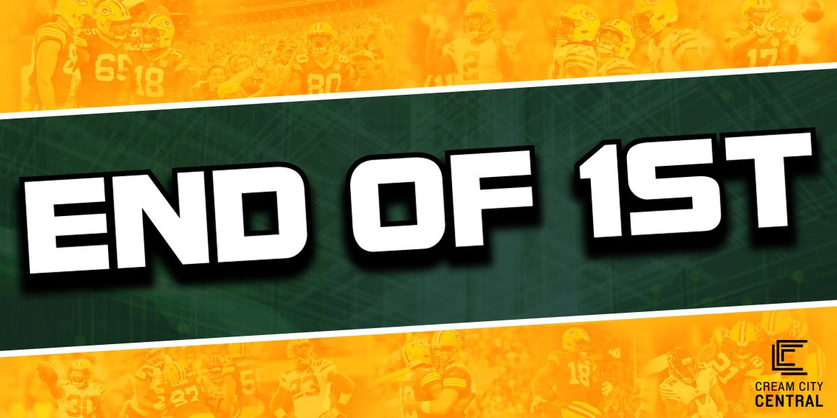 Packers lead Bears 6-3 after the 1st Quarter at Lambeau Field!  GB is in CHI territory!  #CHIvsGB #GoPackGo