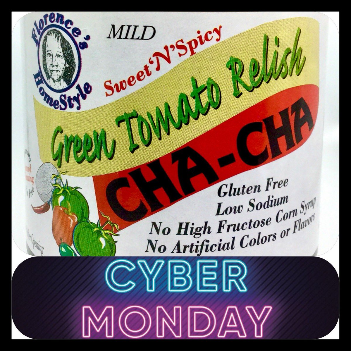 Through CYBER MONDAY use code: MILD50 for 50% OFF Mild Cha-Cha (offer expires 11.30.20) https://t.co/0pmm59qMzP #CyberMonday #chacha #southernfood #soulfood #vegansoulfood #vegan #greentomatorelish #holidayfood https://t.co/mTH7ThINuF