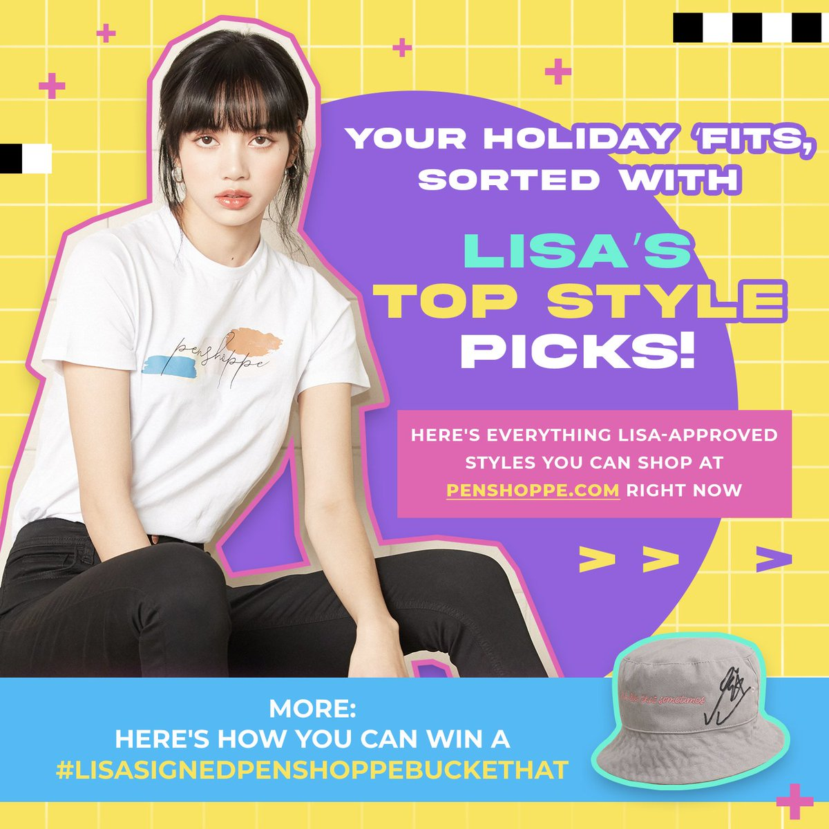 Still on a #LisaOnPenshoppeTV high?  Cop Lisa's Top Style picks (as seen on Penshoppe TV) at ! 🤩  Shop her collection here:
