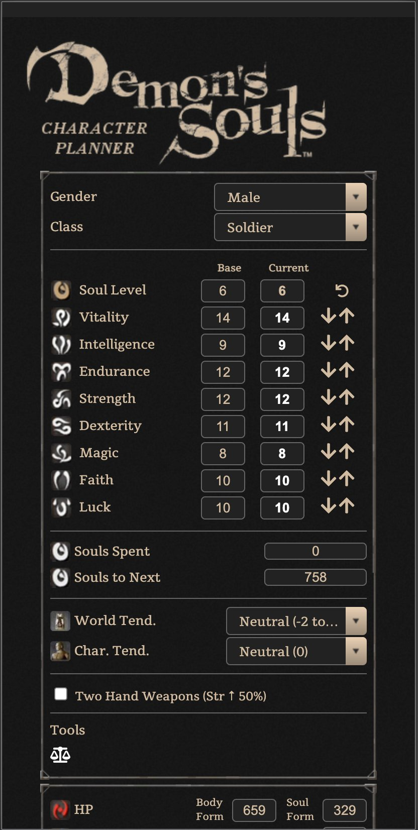 Nate On Twitter Alright The Demon S Souls Character Planner Update Is Live This Includes The New Content Various Bugfixes And Improvements And Much Better Mobile Support Https T Co Ht3aihvbql I M Going To Thread Some L'historique des classements indique la popularité de mugenmonkey for dark souls 3 sur ios app store et son évolution au fil du temps. souls character planner