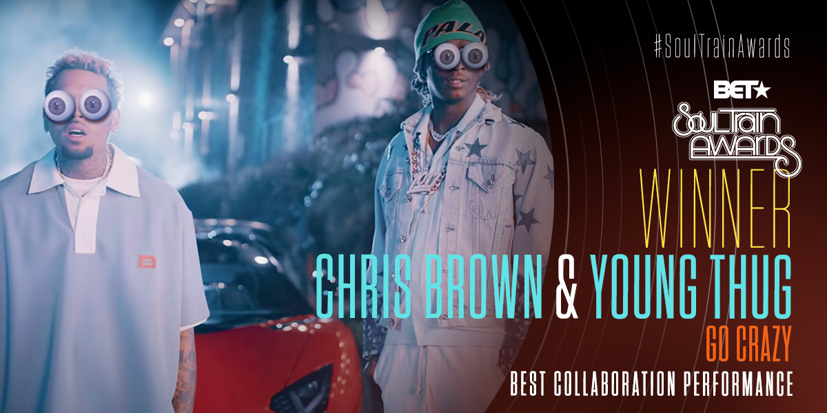 Major congrats to @chrisbrown & @youngthug for winning Best Collaboration Performance! #SoulTrainAwards