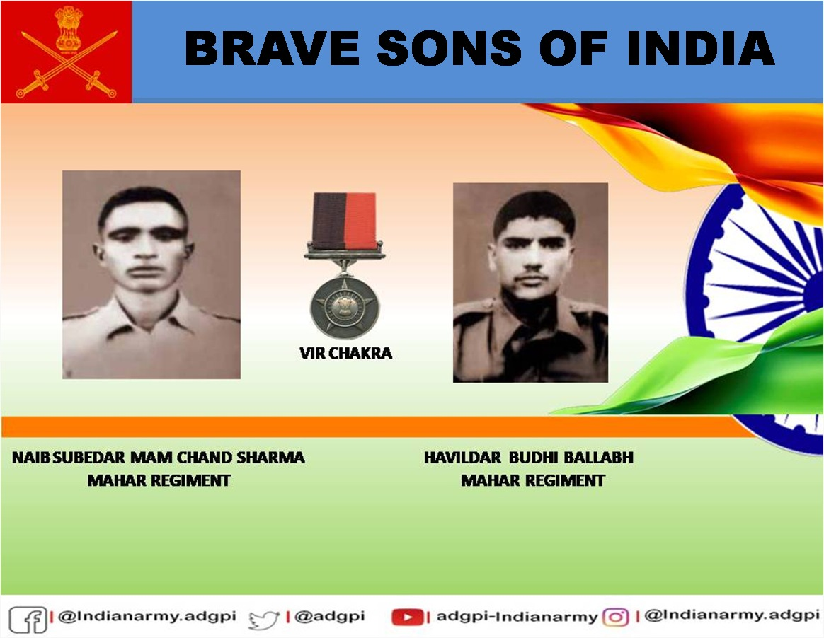 30 Nov 1971  Eastern Sector  Naib Subedar Mam Chand Sharma & Havildar Budhi Ballabh displayed #gallantry & #courage in the best traditions of #IndianArmy during an assault on an enemy post. Posthumously awarded #VirChakra.