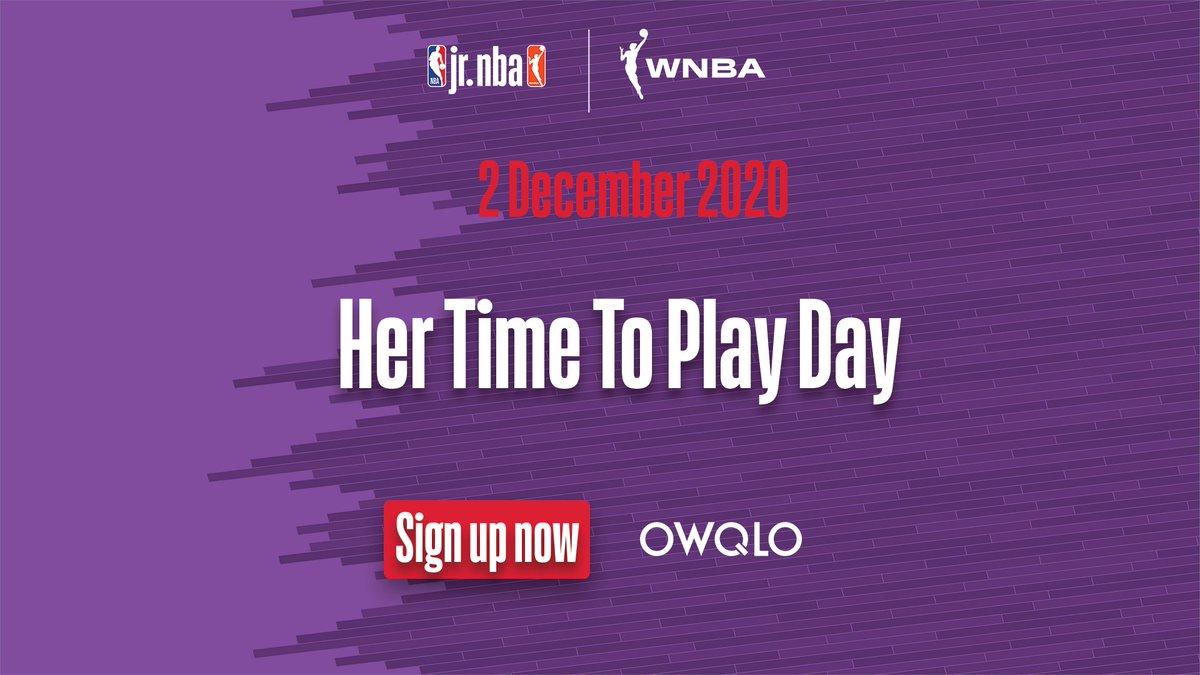 """🙌 @JrNBA'in 2 Aralık'ta gerçekleştireceği """"Her Time to Play"""" etkinliğinde buluşalım!  @CoachCristianGP ve Natalie Higby'nin özel antrenmanı, @WNBA oyuncusu ile soru-cevap ve çok daha fazlası için OWQLO uygulamasını indirebilirsiniz: https://t.co/jqYFk7KPx3  #JrNBA https://t.co/0ImmzvgwjQ"""
