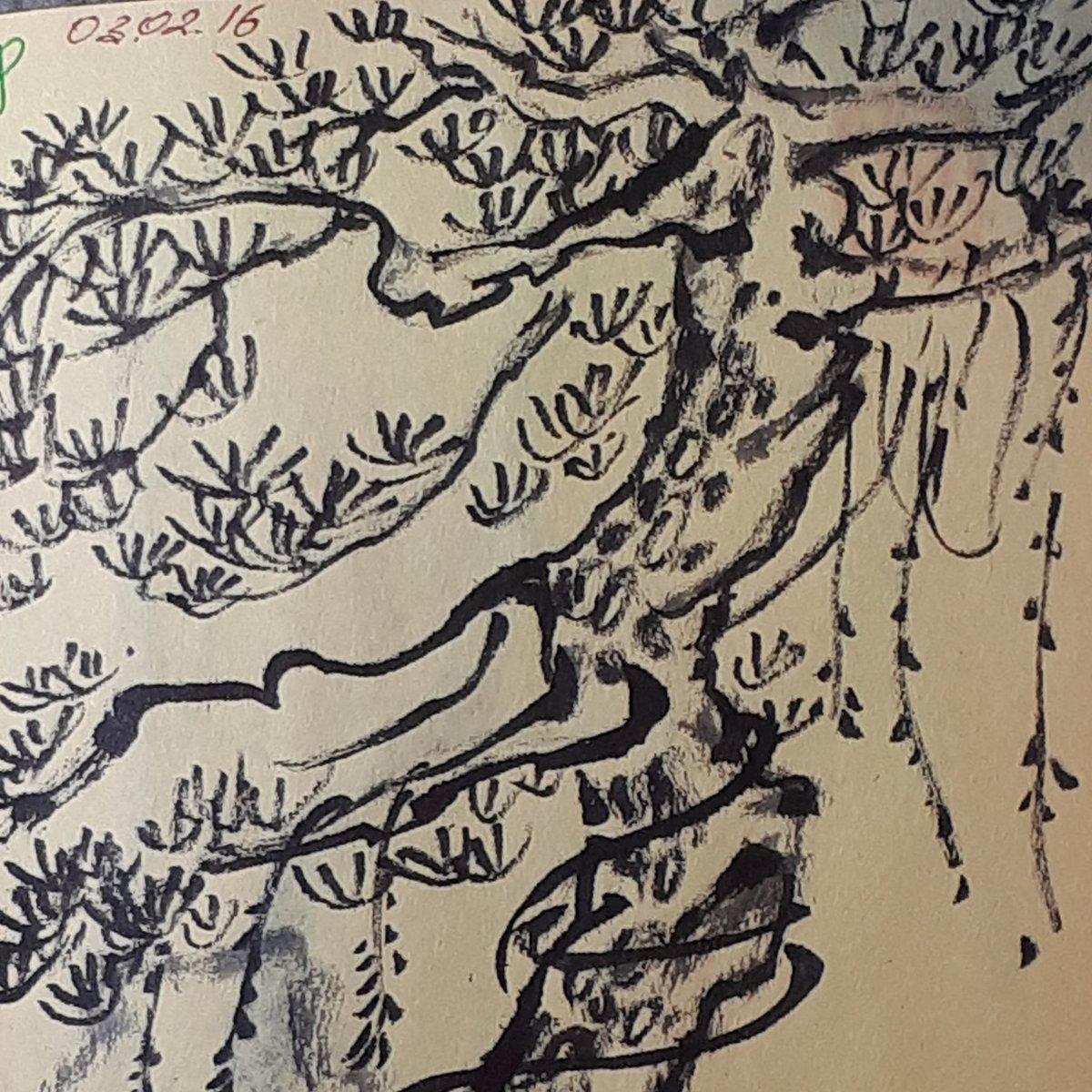 Monday morning #sketchbook details! 👀 Beautiful bonsai 🎨🍃 #sketchbooking #sketch #sketch_daily #drawing #travel #dailyinspiration #dailyart #midweekmotivation #treelovers #nature #weekend #ink #tbt #mondayblues