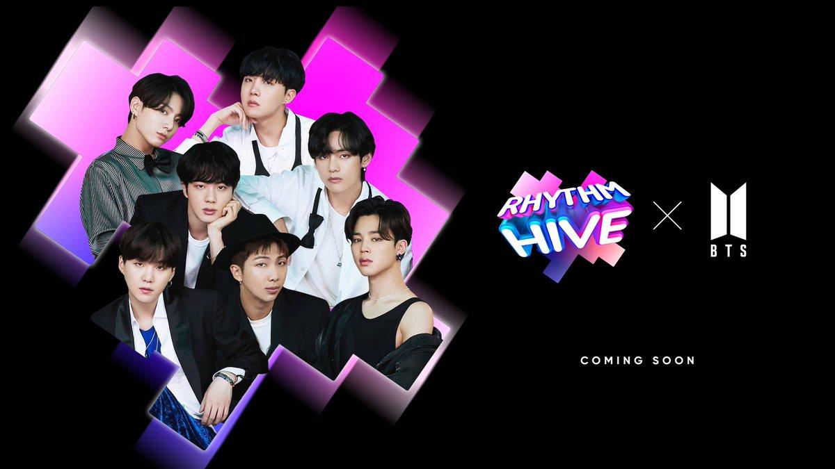 """Rhythm Hive Official on Twitter: """"Rhythm Hive with BTS Let's Play together.  #RhythmHive #BTS #RhythmGame #방탄소년단… """""""