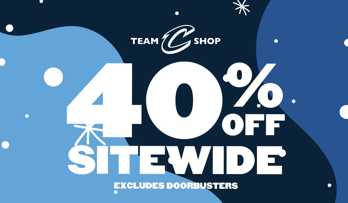#CyberMonday starts now! 🚨   Score 40% off until 1PM at https://t.co/wIkXPGaLob! ➕ NEW Doorbusters ➕ FREE Socks with $75 purchase ➕ FREE domestic shipping on all orders  #CyberMonth | #CavsStyle https://t.co/O9tKMZSWro