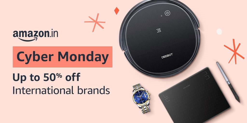 Get up to 50% off on International Brands this Cyber Monday! Grab our big deals & complete your wish list!