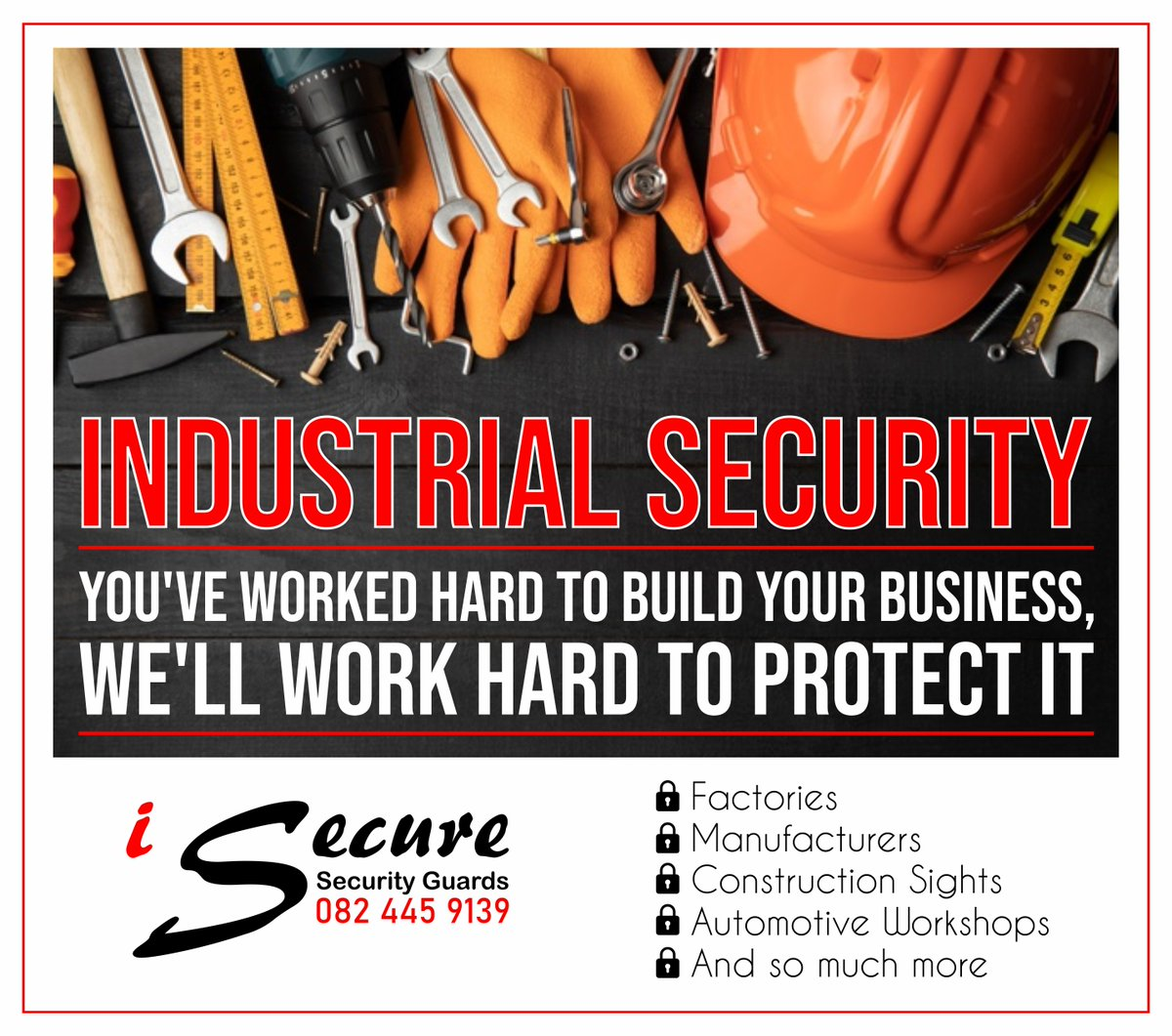 iSecure provides all types of Security and Patrolling services in the Nelspruit, Mpumalanga area.  #iSecure #securityguards #mbombela #nelspruit #vipprotection #patrolling #propertyguarding #assetguarding #accesscontrol #safetyconsultancy #crimeprevention https://t.co/jJh6oib45G