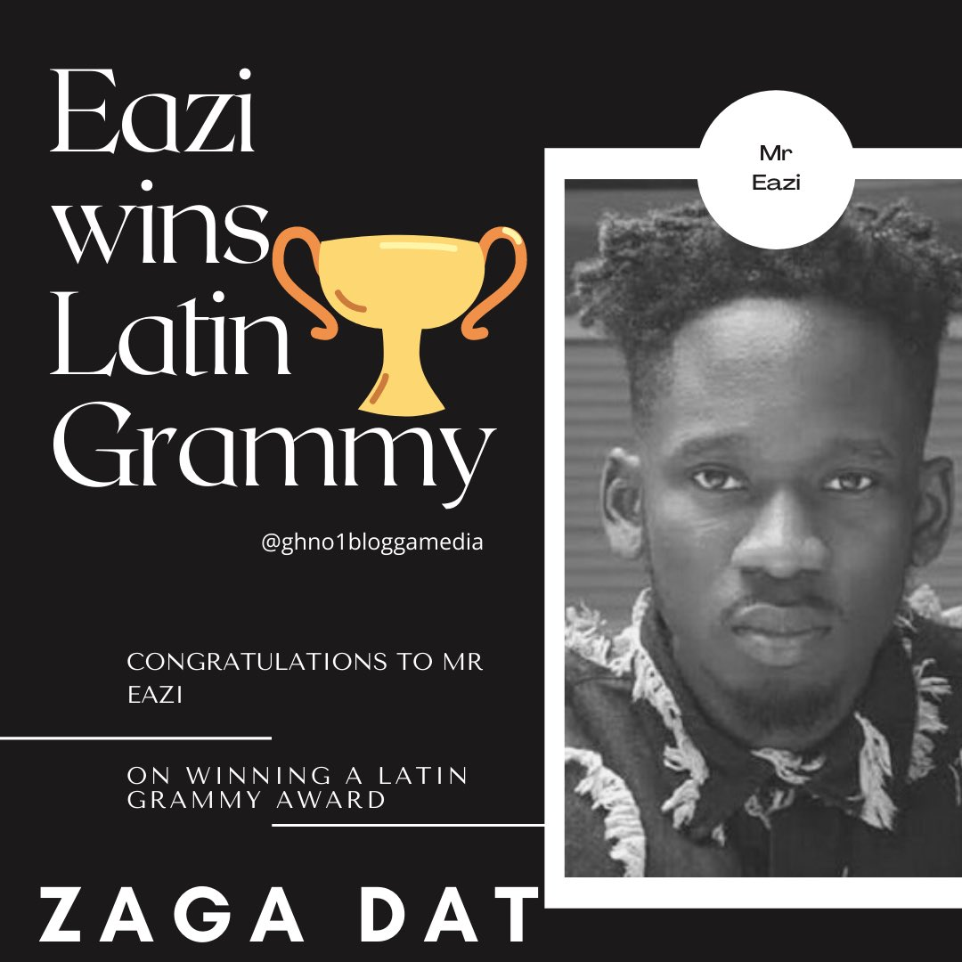 Congrats 🎉 @mreazi on winning a @latingrammys 🏆  ______ for his collabo w / @jbalvin on the song 🎧  'Arcoiris' (track 9)  on the COLORES album 💿  _____ #ghno1blogga🇬🇭 #latingrammy #colores  #jbalvin #mreazi